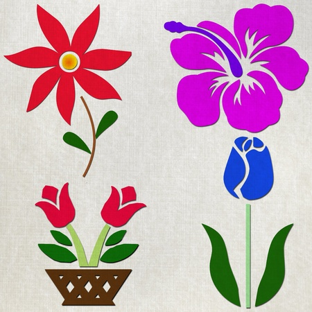 charms: Papercraft flower