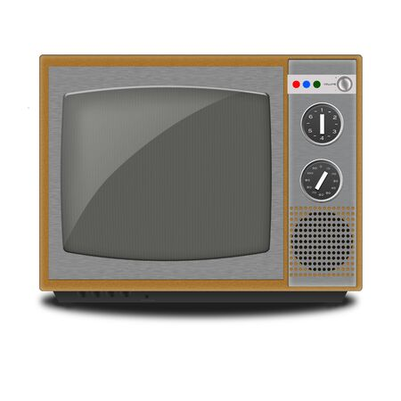 Illustration of Retro TV on a white background illustration