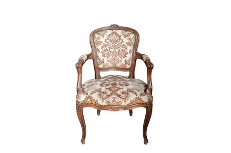 elbowchair: Close up view of the Antique old elbow-chair
