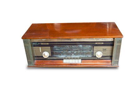 fm: Vintage fashioned radio isolated
