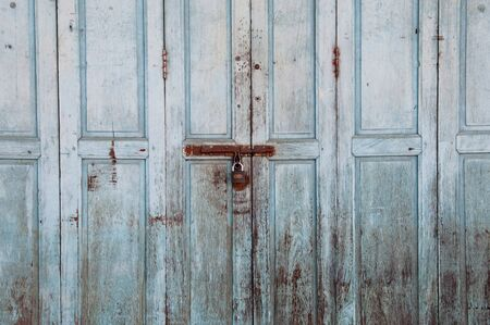old blue door  photo