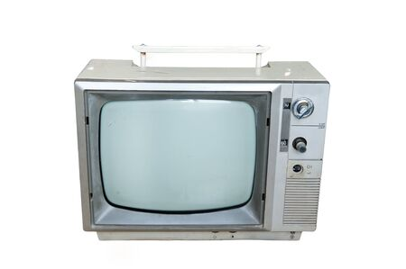 Vintage television  isolate on white photo