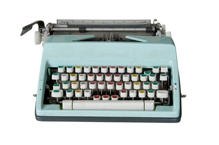 Old dirty Retro typewriter isolated  on white Stock Photo - 10599343
