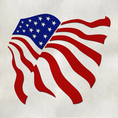 sates: USA flag from recycled paper