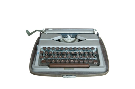 Old dirty Retro typewriter isolated  on white Stock Photo - 10673087