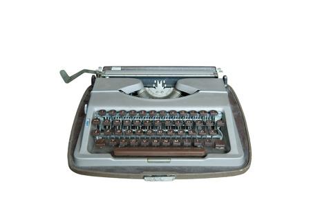 Old dirty Retro typewriter isolated  on white Stock Photo - 10673087