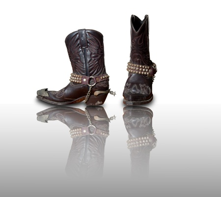 Retro Cowboy boots with refleciton photo