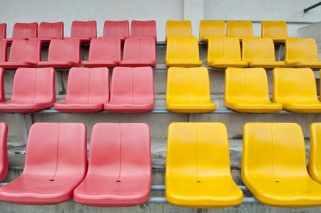 structured: Pattern of empty stadium seat Stock Photo