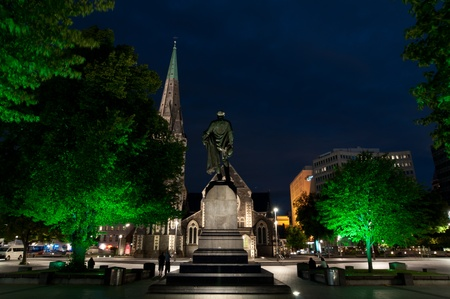 christchurch: Cathedral Square, the central hub of Christchurch, New Zealand.