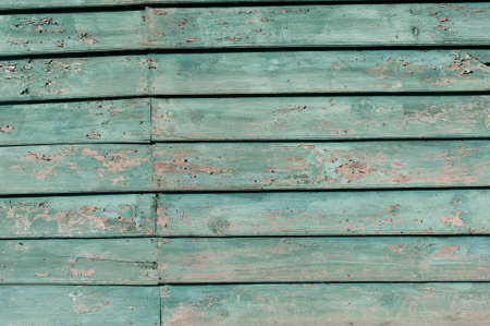 Old painted green wood photo