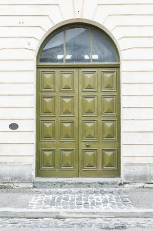 Abandon buildind with door photo