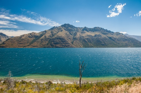 Beautiful Wakatiup Lake, New Zealand photo