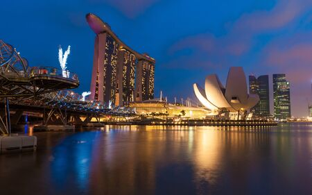 SINGAPORE -DEC 25  The Marina Bay Sands complex  Singapore  Marina Bay Sands is an integrated resort and the world