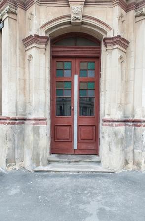 Abandon building with door photo