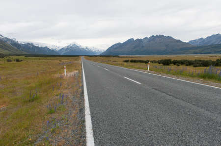 Road to Southern Alps, New Zealand photo