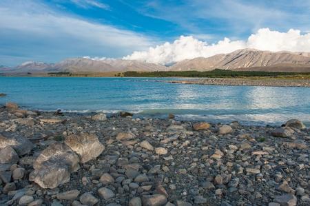 tekapo: beautiful lake tekapo Stock Photo