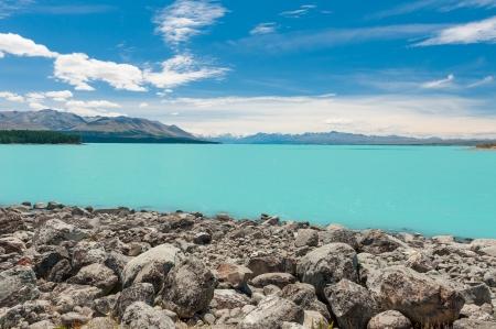 Mt Cook with lake Pukaki  New Zealand photo