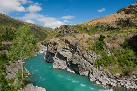 Beautiful turquoise lake, New Zealand photo