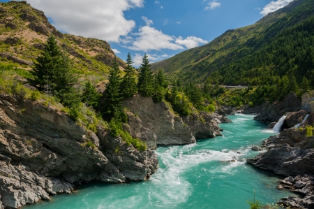 Beautiful turquoise lake, New Zealand