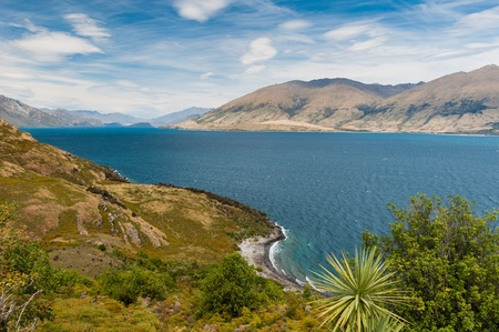 Beautiful Wakatipu Lake, New Zealand photo