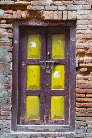nepali: Old Nepali style wooden door