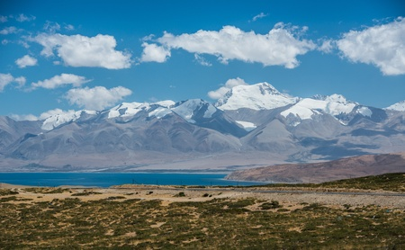 himalayas: Himalayas range and Manasarovar lake, Tibet