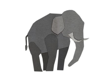 Origami of elephant form recycled paper photo