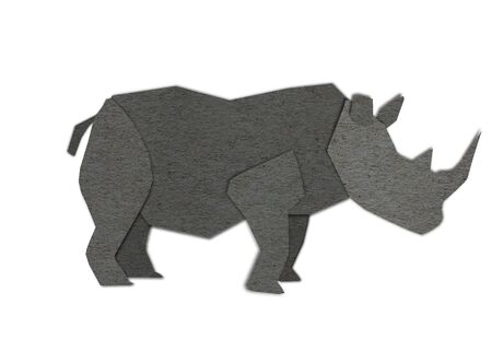 Origami of Rhino form recycled paper photo
