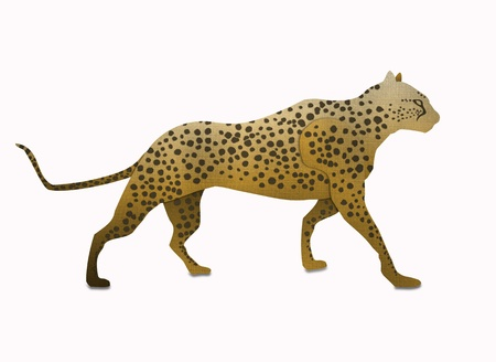 Cheetah form recycled paper isolated on white Stock Photo - 15115277