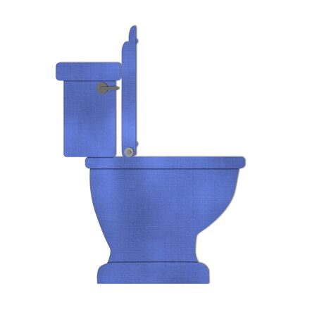 toilet bowl: Blue Toilet bowl icon isolated on white