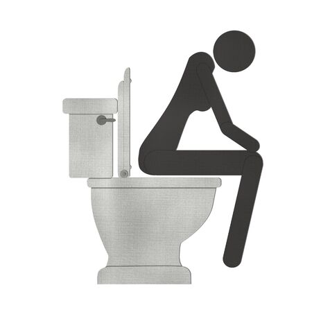 woman on toilet symbol from recycle paper Stock Photo - 15373206