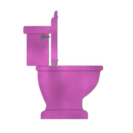 Pink Toilet bowl icon isolated on white Stock Photo - 15373208