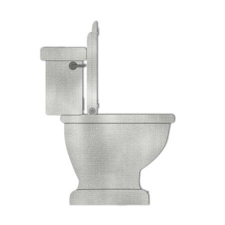White Toilet bowl icon isolated on white Stock Photo - 15373212