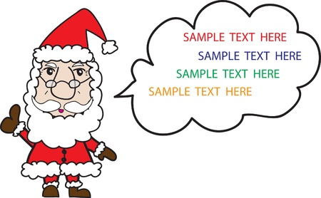Santa Claus shown victory sign with space for text Stock Vector - 15676682