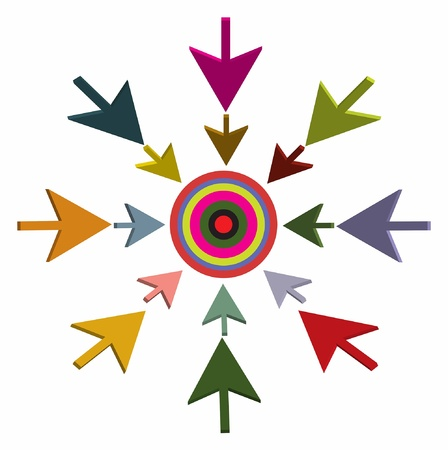 perfection:  3D arrow and target Illustration