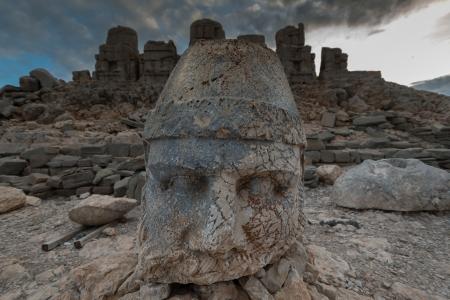 zeus: Ancient Zeus statue at Mt.Nemrut, Turkey