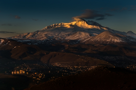 First light at Mt.Erciyes, Kayseri, Turkey
