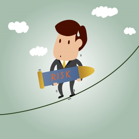 cartoon of Risk Management concept Vector