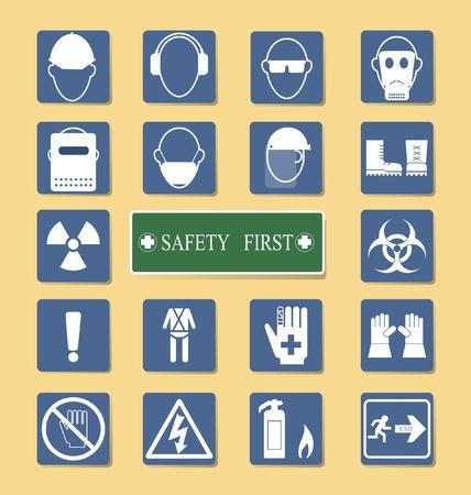 protection individuelle: Vecteur Set de �quipement de protection personnelle PPE