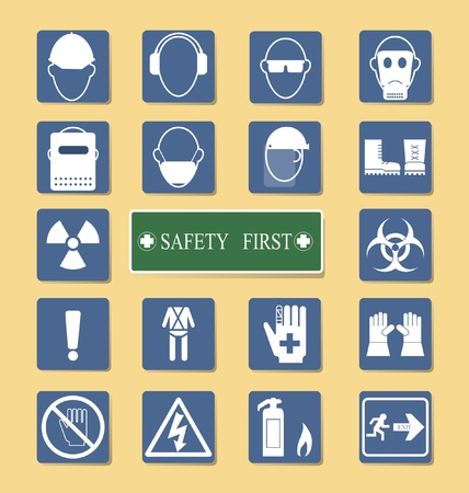 equipments: Vector of Set of Personal Protection Equipment  PPE