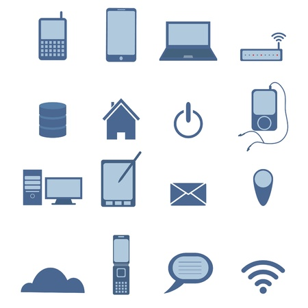 Set of Wireless icon Stock Vector - 20723066