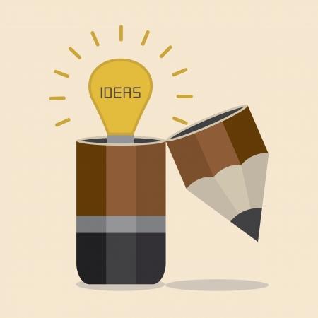 open brain: Idea inside Pencil