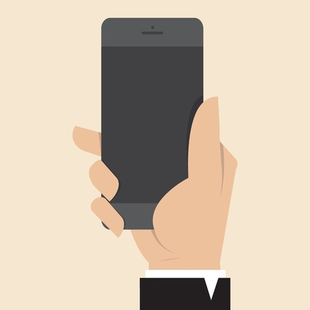mobile sms: Hand with Smart Phone