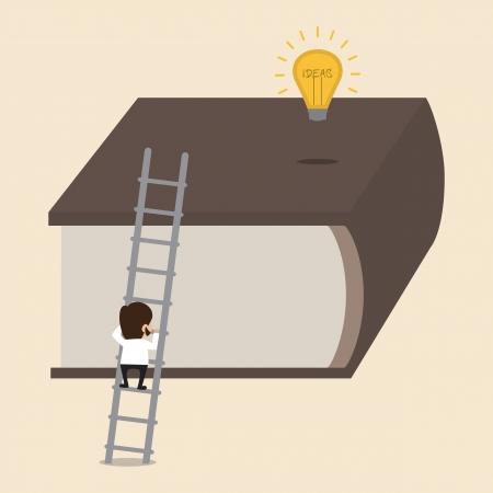 understanding: Climbing big book to reach an Idea