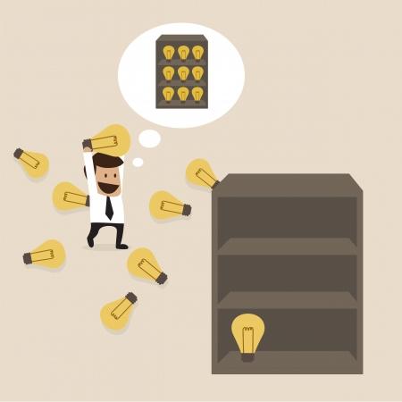 management concept: Concepto de gesti�n del conocimiento Vectores