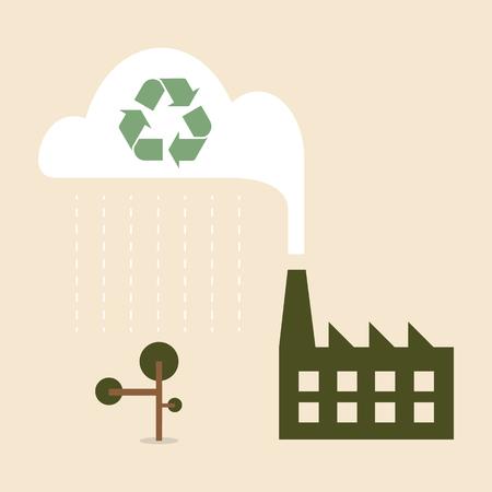 smoke stack: Energy concetto di verde