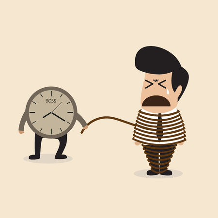 Employee life is depended by a time Stock Vector - 23286396