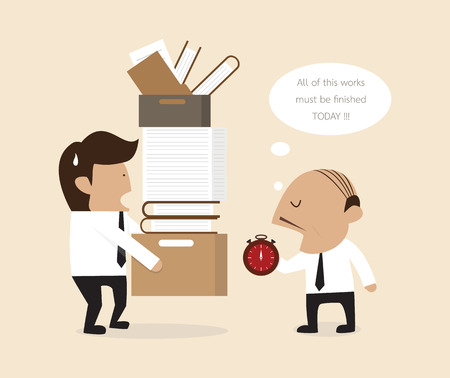 Vector cartoon of Boss and employee Vector