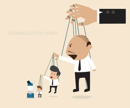 Vector cartoon of Organization chart