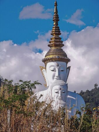 Five Buddhas at Wat Phasornkaew Temple in Khao Kor, Phetchabun, in north-central Thailand